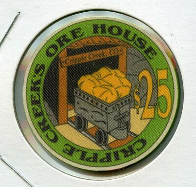$25 Cripple Creek's Ore House 1st issue Colorado Casino Chip RARE UNC!