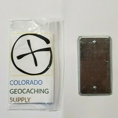 Utility Plate /& Gum Geocache containers Cache Geocaching Magnetic Natural Bolt