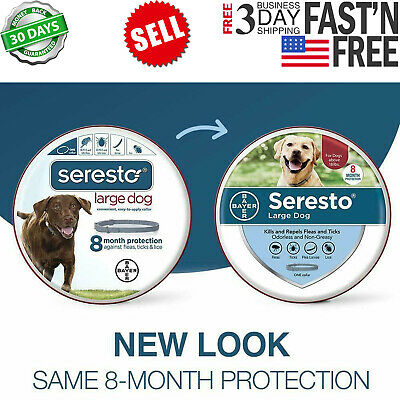 Bayer Seresto flea and tick collar for large dogs over 18 Ibs New animal protect