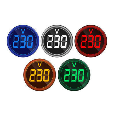 Digital Display Gauge  Voltage Meter Voltmeter Lights Tester Combo 12-500V AC
