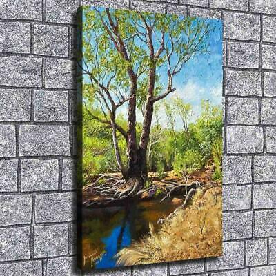 "12""x20""Oil painting woods HD Canvas print Painting Home Decor Picture Wall art"
