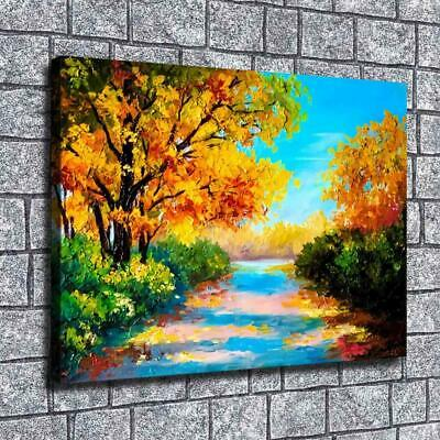 "12""x16""Oil painting woods HD Canvas print Home painting Room Decor Picture Wall"