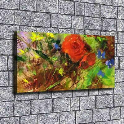 """12""""x24""""Oil painting flowers HD Canvas print Painting Home Decor Picture Wall art"""