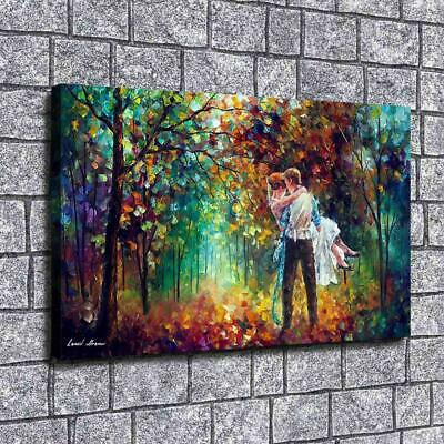 "12""x20""Couple in the woods HD Canvas print Painting Home Decor Picture Wall art"