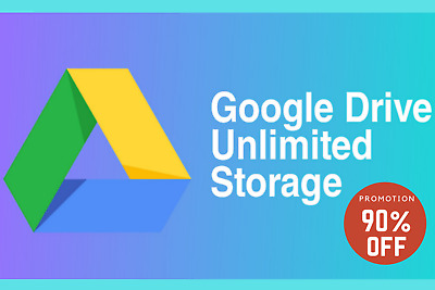 Google Drive Unlimited Storage Account - lifetime  - Preset - Instant delivery