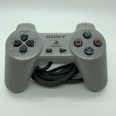 Genuine Sony PlayStation 1 PS1 Controller Official OEM SCPH-1080 Gray PSX Used