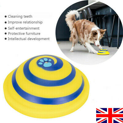 For Woof Glider Squeaky Dog Toy Sounding Disc Indoor Safe Fun Play All Dog Sizes