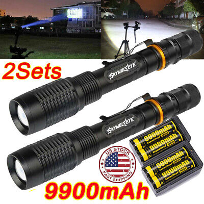 Zoomable 350000Lumen 5Modes T6 LED High Power Flashlight  Lamp Torch 18650 Light