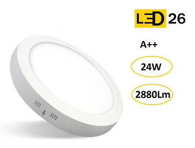 Plafon techo LED DownLight 24W panel superficie redondo 285mm blanco LED26