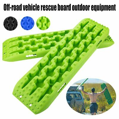 4pcs Recovery Tracks 2 Pairs Light Green Sand/Snow/Mud Trax 4WD Sand Track