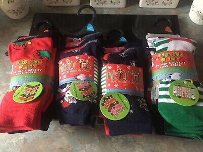 Job Lot Christmas Socks Mens and Ladies Four Bundles BNWT !!