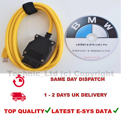 Ethernet to OBD Interface Cable ICOM ISTA Coding F-series for BMW ENET 2M ✔️