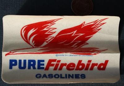 1968 Pure Oil Firebird Gasolines service station giveaway window sticker-COOL!*