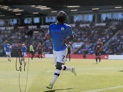 Raheem Sterling - Manchester City Footballer - Excellent Signed Action Photo