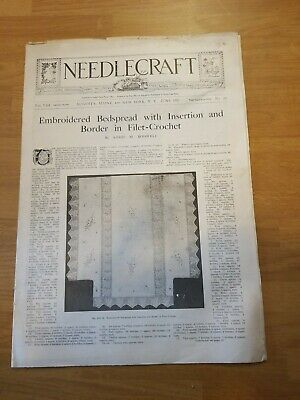 Antique 1917 Needle Craft Newspaper No 10 Embroidery,  Crochet