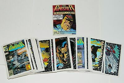 Marvels The Punisher Trading Cards Complete Set Comic Images 1988 NEAR MINT