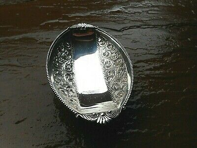ORIGINAL ART DECO 1930'S STERLING SILVER FOOTED VANITY DISH / BOWL 100g