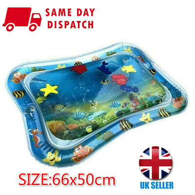 Baby Water Play Mats Premium Tummy Time Inflatable Water Mat for Infants 66x55CM