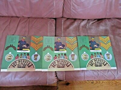 3- VINTAGE 1960's THE BEATLES SGT PEPPERS LONELY HEARTS CLUB BAND CUTOUTS