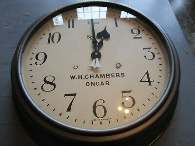 Antique Metal Cased Smiths Industrial Electric Clock circa 1931