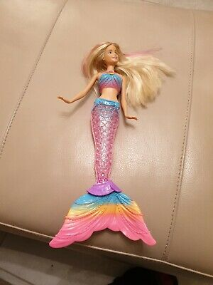 Barbie Doll - by Mattel 2015 Dreamtopia Rainbow Mermaid with Light-up Tail