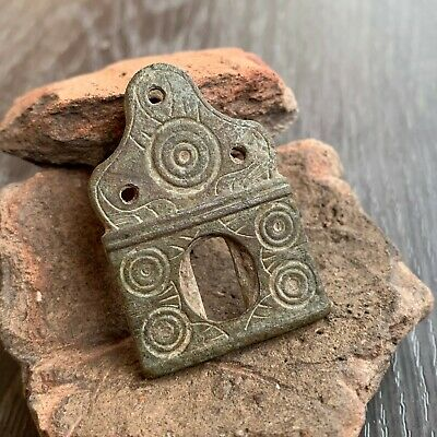 Ancient Celtic / Roman / Bronze Artifact / Solar Symbol