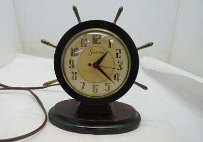 Sessions Ships Steering Wheel Clock, Made in USA 1950's Works Great