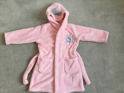 Little Girls Elsa Dressing Gown - Age 2-3 Marks And Spencer - Worn Excellent