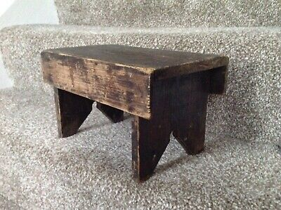 Antique Victorian Small Stool Primitive Childs