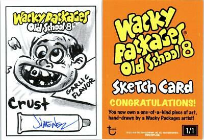 2019 Topps Wacky Packages Old School 8th Series Sketch CRUST by Robert Jimenez