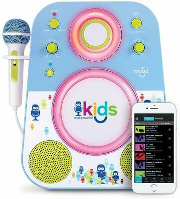 Singing Machine SMK250BG Bluetooth Sing Along Kids Karaoke Machine With LED