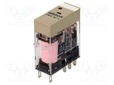 G2R-2-SN-230AC Relay electromagnetic DPDT 5A//250VAC 5A//30VDC max380VAC OMRON