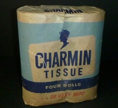 NOS Vintage 40's 50's CHARMIN 4-Roll Toilet Paper Tissue In Original Package!!