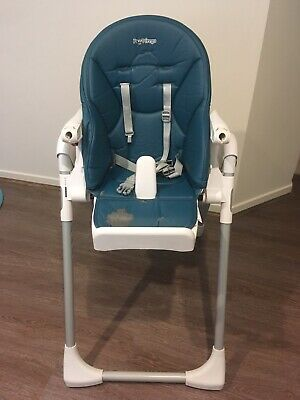 Peg Perego Prima Pappa High Chair (Navy Blue) - Used