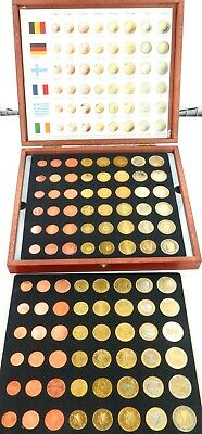 EARLY 2000s BOXED COMPLETE SET of 12 EURO COUNTRIES COINS.