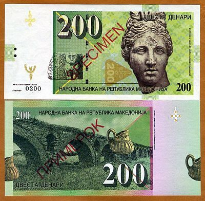 Macedonia, 200 Denari 2013, Private Issue Specimen for official competition, UNC