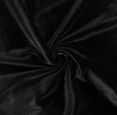 """Stretchy Black Velvet 60"""" Wide Fabric Sewing Crafts Apparel Costumes 3.5 Yards"""