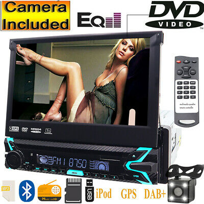 For Sony Lens Single Din Car Stereo Radio DVD Player GPS Navigation with Map+CCD
