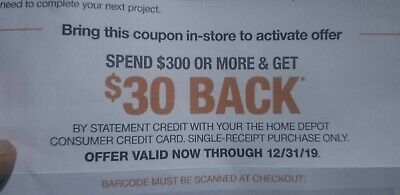 30$ off  in store  exp 12/31/19 .inbox delivery 1h