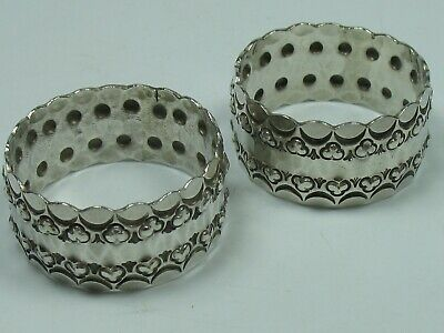 2 Very Beautiful Napkin Rings for Fabric Napkins 800 Silver