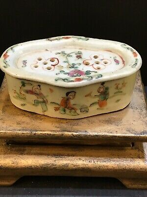Chinese Antique Famille 18th c. Cricket Cage Box Exported To Paris/London