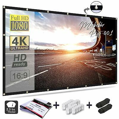 """133-200/""""inch Projection Screen Giant Screen Curtain Fabric Portable 16:9 IL"""