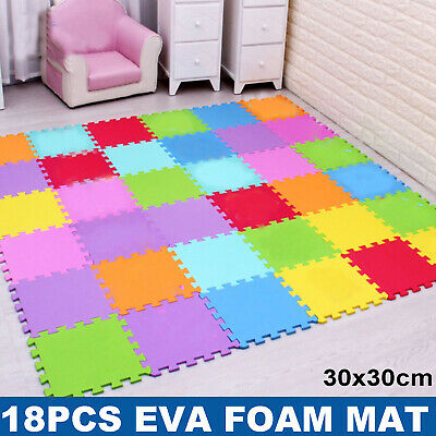 Large Soft Foam EVA Kids Floor Mat Jigsaw Tiles Interlocking Garden Play Mats EO