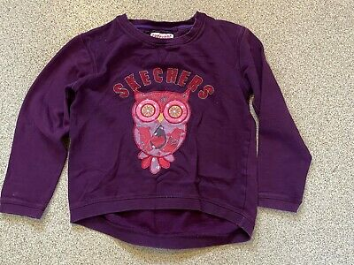 Girls Skechers Purple Jumper with Owl Print Age 8-9 Years