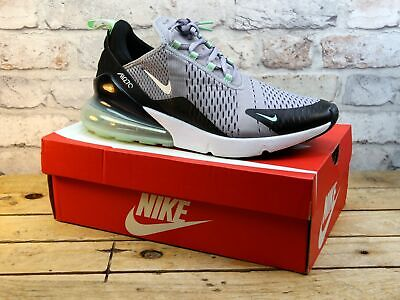 Mens Nike Air Max 270 Grey Knit Mesh Running Active Sports Gym Trainers Size 11