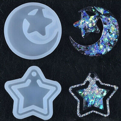 Butterfly Pendant Star Moon UV Epoxy Silicone Mold Jewelry Making Resin Mould