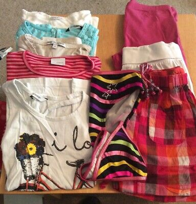 Girls 9 Piece Bundle Tshirts,Shorts,Trousers,Bikini 7-8-9Years George,Cherokee.
