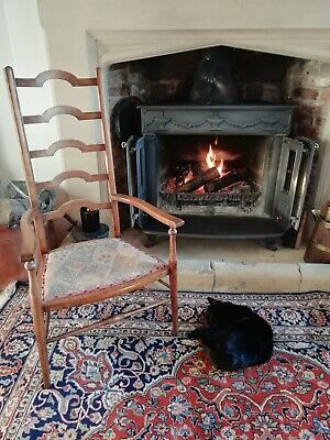 Arts and Crafts style ladder back fireside or nursing chair
