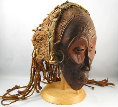 Antique African Congo Chokwe Tribe Ceremonial Mask