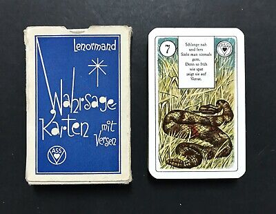 Vintage 1950s Lenormand Fortune Telling Oracle Cards w. Verse
